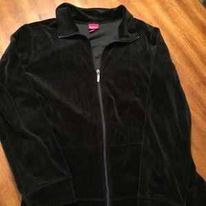 Cozy Velour Warm-Up Jacket, Ladies XL